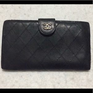 Chanel Quilted Long Wallet